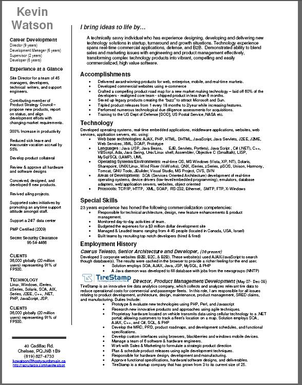 Guerrilla Job Hunting  Recruiter Resume