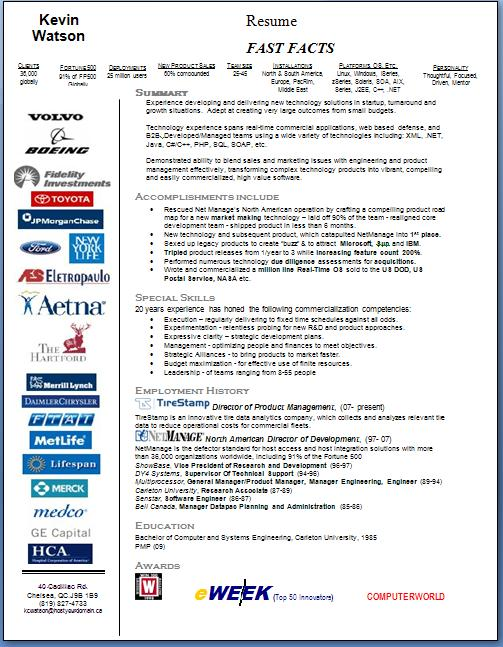 1page extreme guerrilla resume kevin Watson